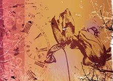 tid för illustration för konstfineblomma stock illustrationer
