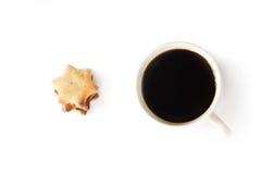 tid för kaffekopp Arkivfoto