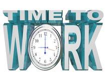 tid för klockanedräkningstopptid att fungera att fungera royaltyfri illustrationer