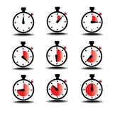 Tid för klockaräkning Arkivfoto