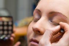 tid för makeup 4 Arkivbild