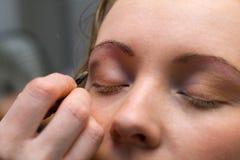 tid för makeup 5 Arkivbilder