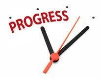 Tid för progress royaltyfri foto