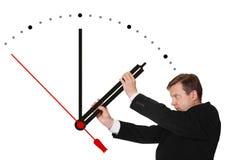 Tid för stopp för affärsman Arkivfoton