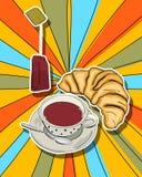 Tid för tea för Popkonst Royaltyfri Fotografi