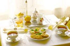 tid för tea ii Arkivbild