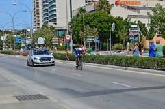Tid försök Rider From Etixx Quick Step royaltyfria foton