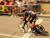 Tid försökcyklist Royaltyfri Foto