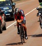 Tid försökcyklist Royaltyfria Foton