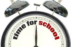 Tid för skola Arkivbild