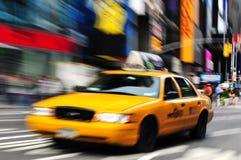 Tid fyrkant i Manhattan New York Arkivbild