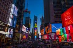 Tid fyrkant, New York City Royaltyfri Fotografi