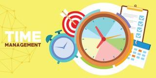 Tid ledning och schema vektor illustrationer
