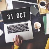 Tid och begrepp för datumklockadiagram royaltyfri fotografi