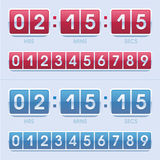 Tid och dagklocka Fotografering för Bildbyråer