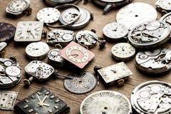 Tid och klockamekanism Royaltyfri Foto