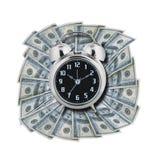 Tid är pengar som isoleras Fotografering för Bildbyråer