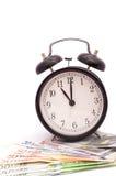 Tid är pengaraffärsidéen Fotografering för Bildbyråer