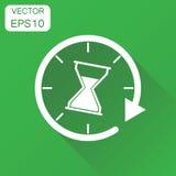 Tid sandglasssymbol Pictogram för affärsidéklockatimglas stock illustrationer