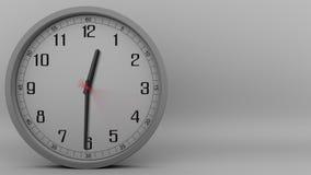 Tid schackningsperiod av den gråa klockan som mäter av 60 minuter (1 timme) längd i fot räknat 4k stock video