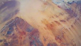 Tid schackningsperiod av jord som kretsar visning från den NASAinternationella rymdstationenSahara öknen till Nile River stock video