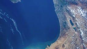 Tid schackningsperiod av jord som kretsar visning från NASAinternationella rymdstationen lager videofilmer