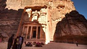 Tid schackningsperiod av kassan, Petra, Jordanien arkivfilmer