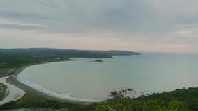 Tid schackningsperiod av landskapet av den Palangpang stranden lager videofilmer