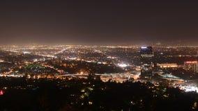 Tid schackningsperiod av Sanen Fernando Valley på natten - Los Angeles