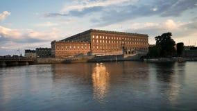 Tid schackningsperiod av slotten i Stockholm lager videofilmer