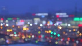Tid schackningsperiod av staden från dag till natten Natten byter ut dag lager videofilmer