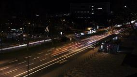 Tid schackningsperiod av trafik på natten