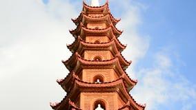 Tid schackningsperiod av Tran Quoc Pagoda Temple i Hanoi Vietnam arkivfilmer