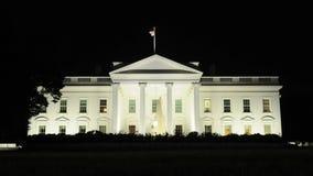 Tid schackningsperiod av Vita Huset på natten lager videofilmer