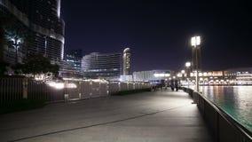 Tid schackningsperiod från mest härlig springbrunn i UAE lager videofilmer
