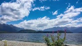 Tid schackningsperiod på sjön Manapouri, Nya Zeeland lager videofilmer