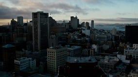 Tid schackningsperiod - solnedgång i San Francisco lager videofilmer