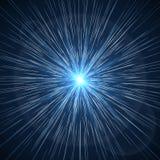 Tid snedvrider Illustration för supernovastarburstvektor royaltyfri illustrationer