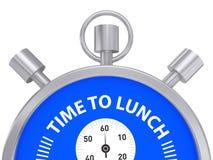 Tid som äter lunch Arkivbilder