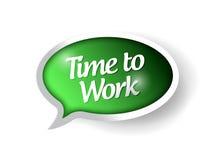 Tid som arbetar meddelandebubblaillustrationen Fotografering för Bildbyråer