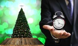 Tid som firar i julhändelse Arkivbilder