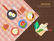 Tid som lagar mat Poster vektor illustrationer