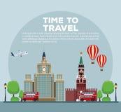Tid som reser infographic royaltyfri illustrationer
