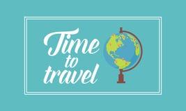Tid som reser på världen Arkivbild