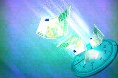 Tid som segrar illustrationen, eller tid är pengarbegreppet Arkivfoto