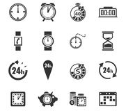 Tid symbolsuppsättning Fotografering för Bildbyråer