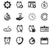 Tid symbolsuppsättning Royaltyfri Bild