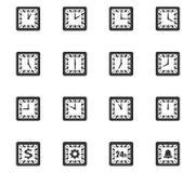Tid symbolsuppsättning Royaltyfri Fotografi