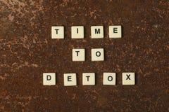 Tid till detoxen Arkivfoton