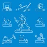 Tid till kondition och sportar Sund livsstil vektor illustrationer